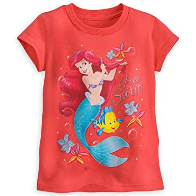 690db4497 Disney Store Princess The Little Mermaid Ariel Little Girl Short Sleeve T  Shirt 5/6