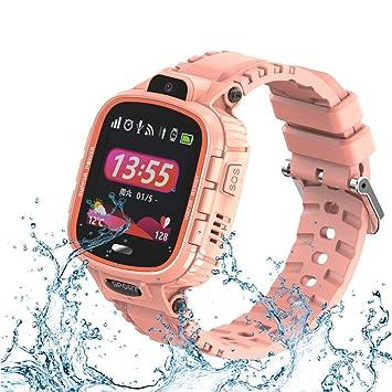 9Tong Cámara Impermeable para Niños Reloj Inteligente Pantalla Táctil GPS Rastreador de Niños Reloj SOS Anti-Lost Child Watch Phone para iOS y Andriod ...