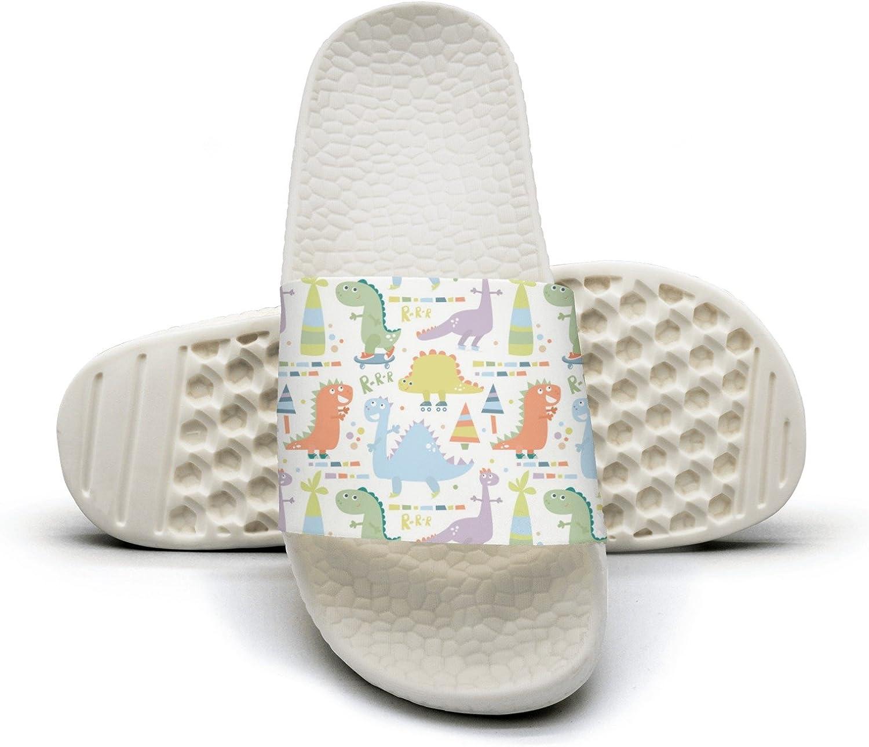 Amazon Com Baby Dinosaur White Background Summer Slippers For Men