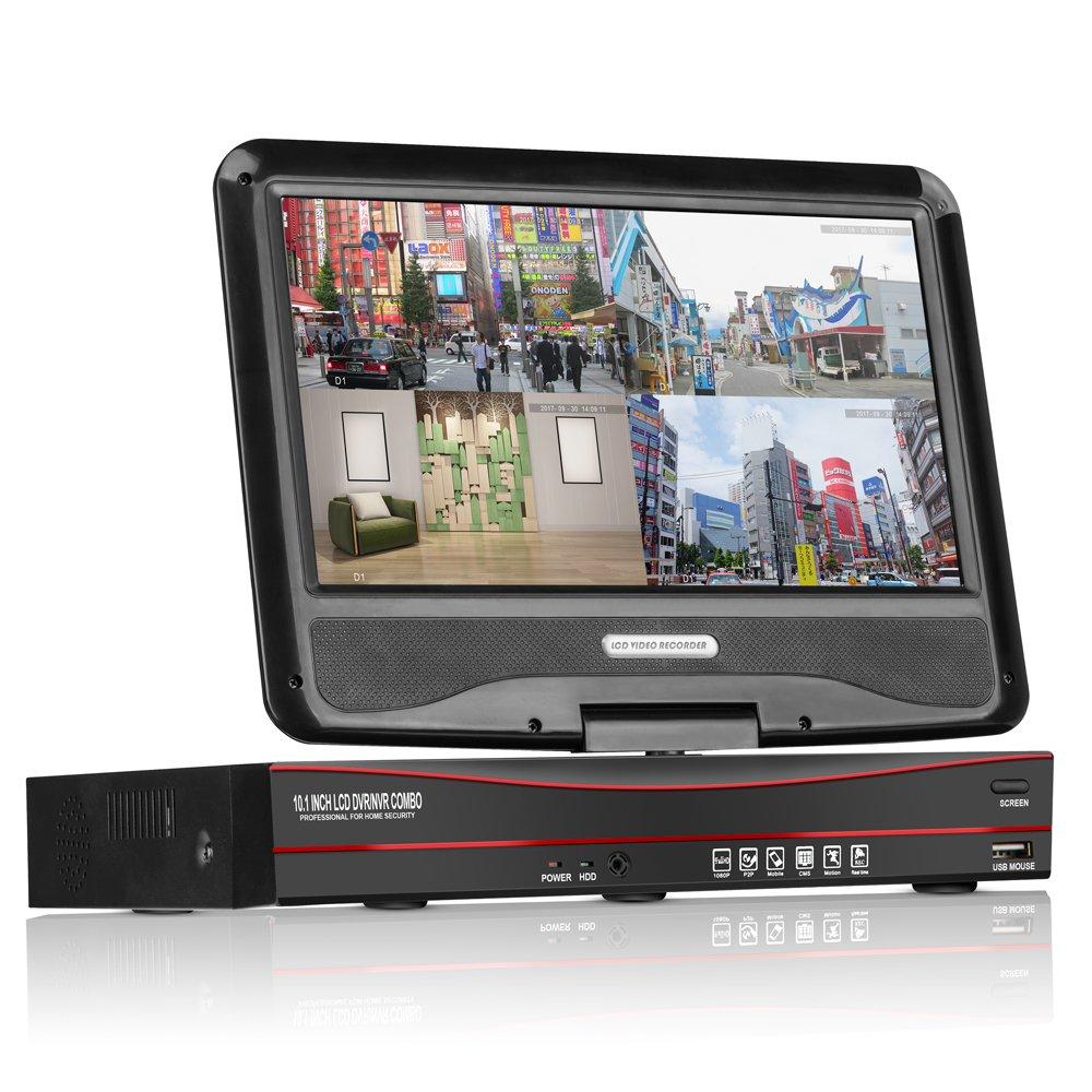 A-ZONE 1080P POE給電hddレコーダー 4CH防犯録画機 HDD無し B01NBN8093 200万画素 200万画素