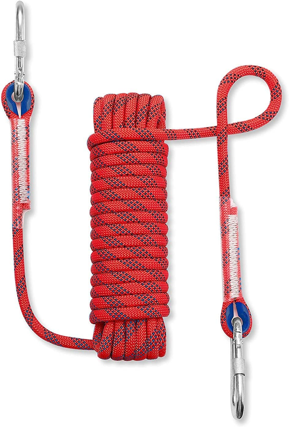 Sunshine smile Outdoor Climbing Rope Rock Rope Safety Rope Climbing Rope with Buckle Climbing Rope with Carabiner