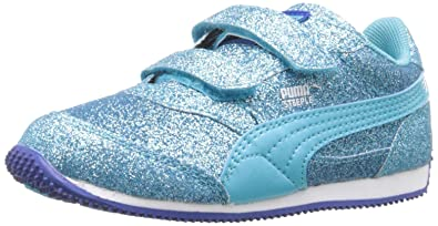 PUMA Steeple Glitz Glam V Kids Sneaker (Toddler/Little Kid/Big Kid)