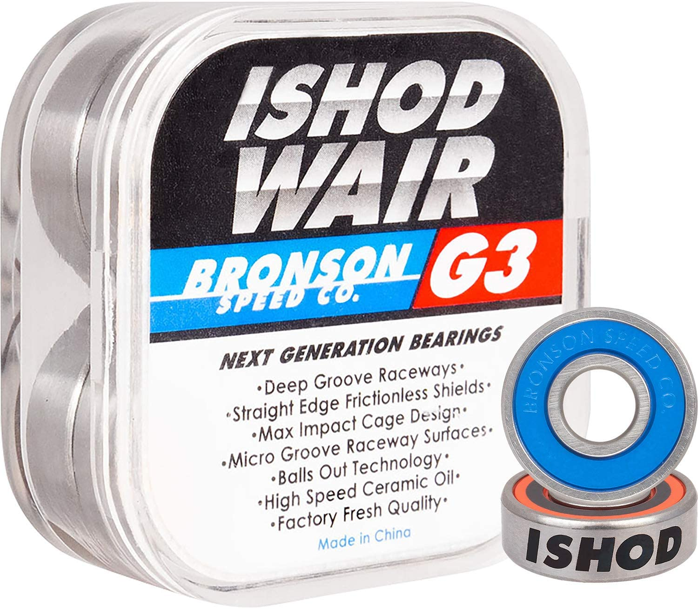 BRONSON SPEED CO G3 Next Generation Skateboard BEARINGS Spacers /& Speed HWashers