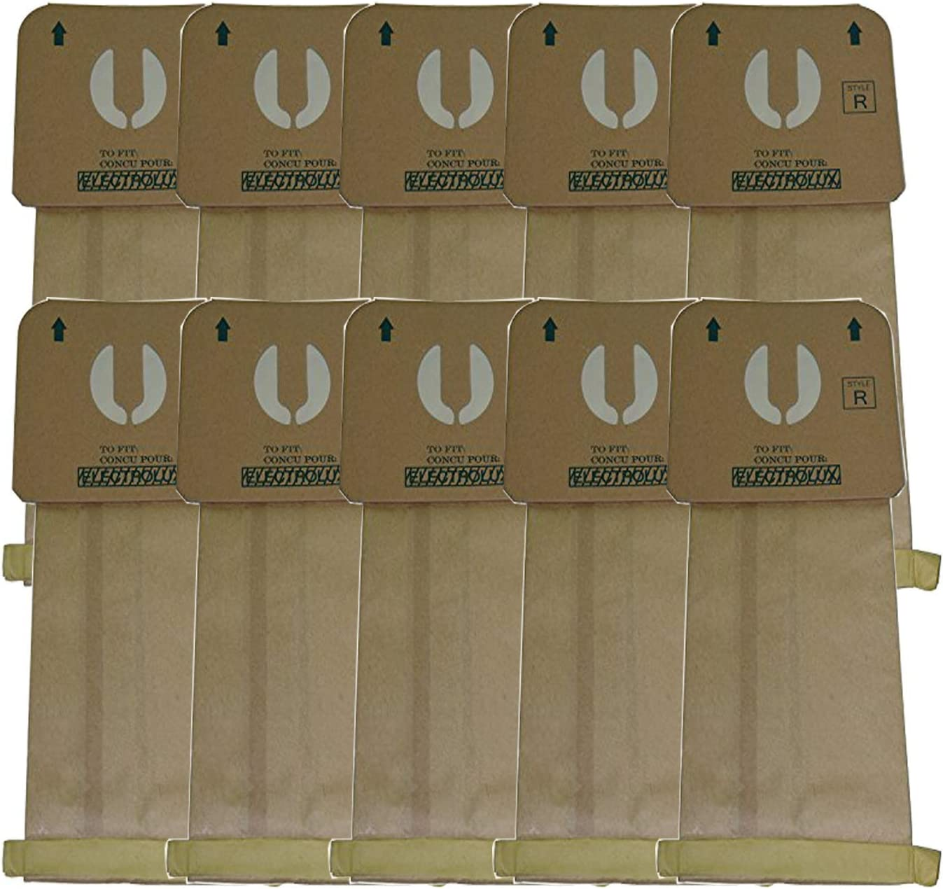 Electrolux Renaissance MicroFiltration Style R Premium Vacuum Bags; Fits Electrolux Renaissance, Epic 8000, Guardian Series, Also Fits The LUX 9000 Model Vacuum Cleaners, by ZVac (10)