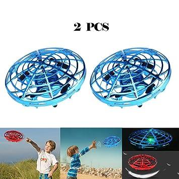 2 Piezas RC UFO Helicóptero, UFO Drone 360, Mini Dron Ovni, Mini ...