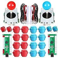 EG STARTS 2 USB controller voor PC Game 2X 5Pin Stick 4X 24 mm + 16x 30 mm knoppen voor games Arcade Kit kast Fai Te…