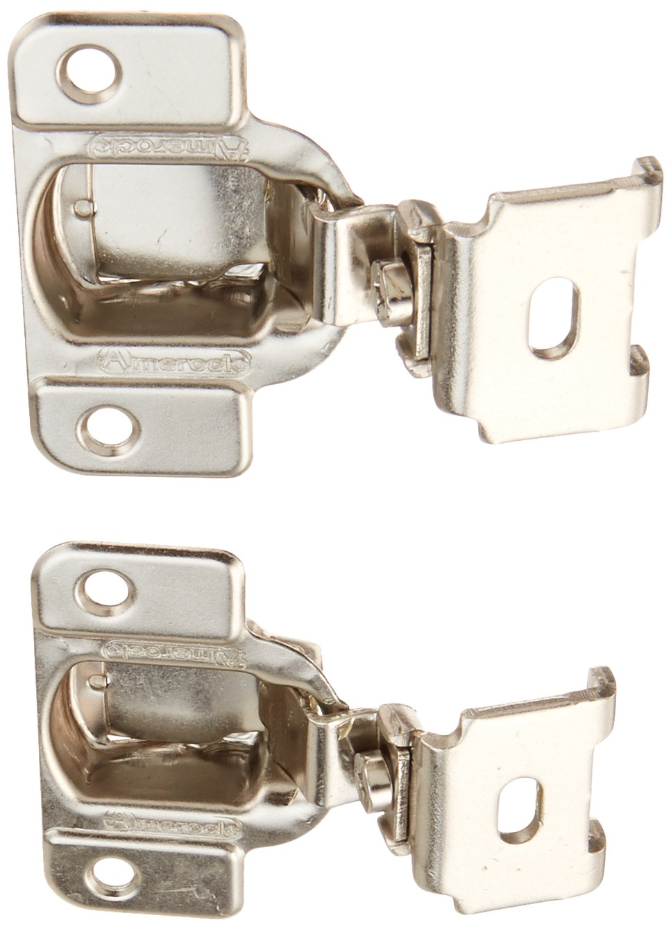 Amerock BP2811C1314 Matrix Concealed Hinge, 1 3/4in(45mm) Hole Pattern Hinge  With 1 1/4in(32mm) Overlay   Nickel (PACK OF 4 + PLEXTOOL BUNDLE)      Amazon. ...