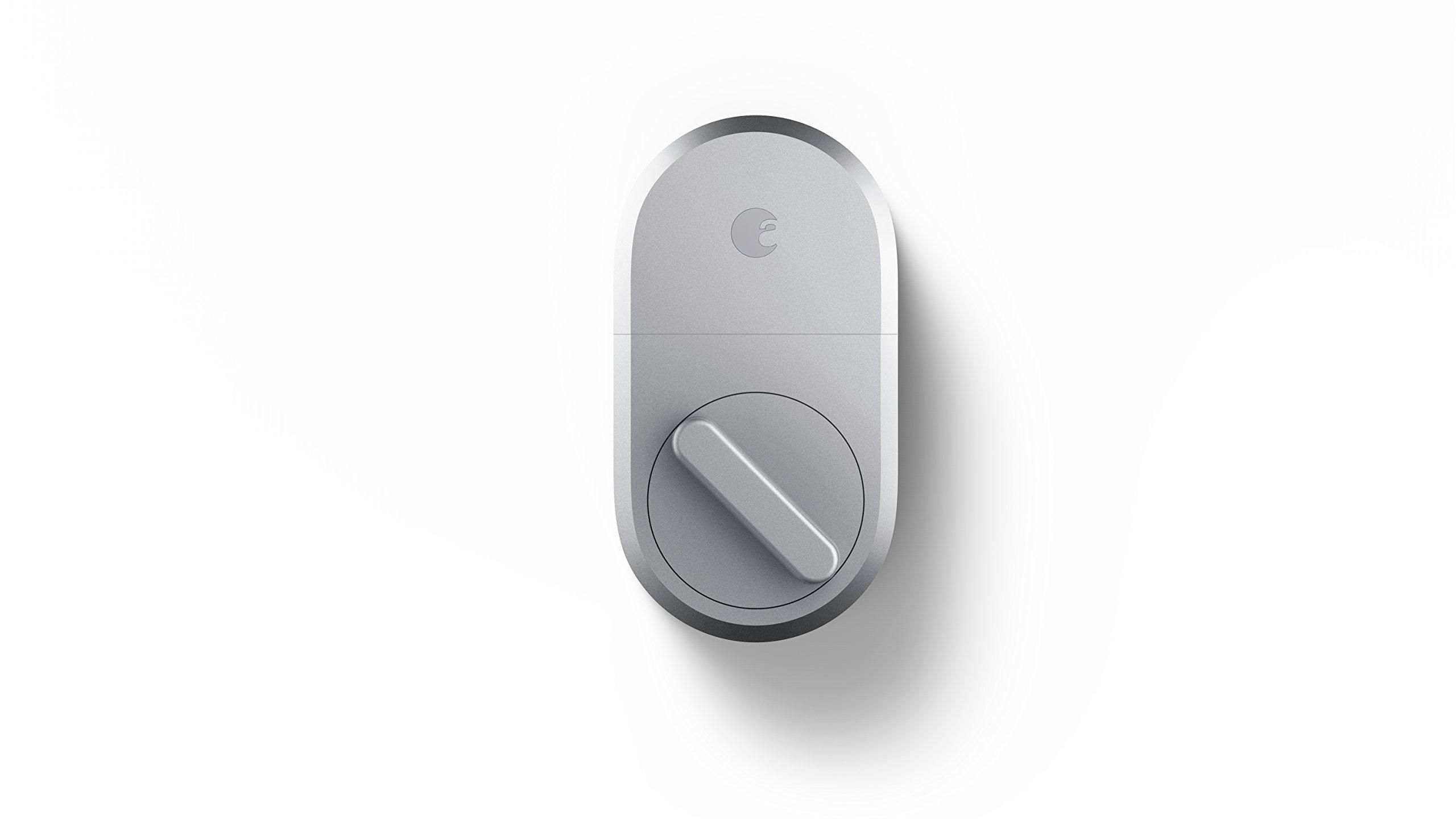 August Smart Lock, 3rd gen technology - Silver, Works with Alexa