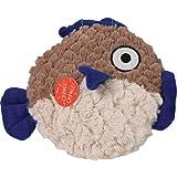 """Ethical Pets Soft Swirl Plush Fish Dog Toy, 9.5"""""""