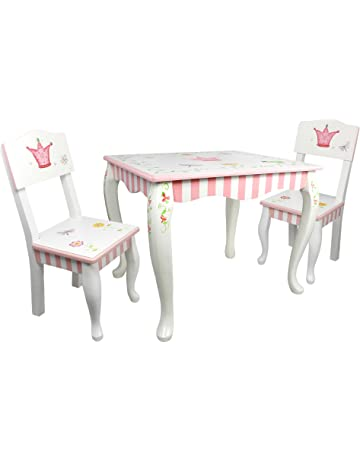 06e319fbf036 Fantasy Fields - Princess   Frog Thematic Hand Crafted Kids Wooden Table  and 2 Chairs Set