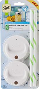Ball Sip and Straw Lids 4/pkg, Fits Wide Mouth Jars