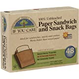 If You Care 100% Unbleached Paper Snack & Sandwich Bags, 48ct, 2pk