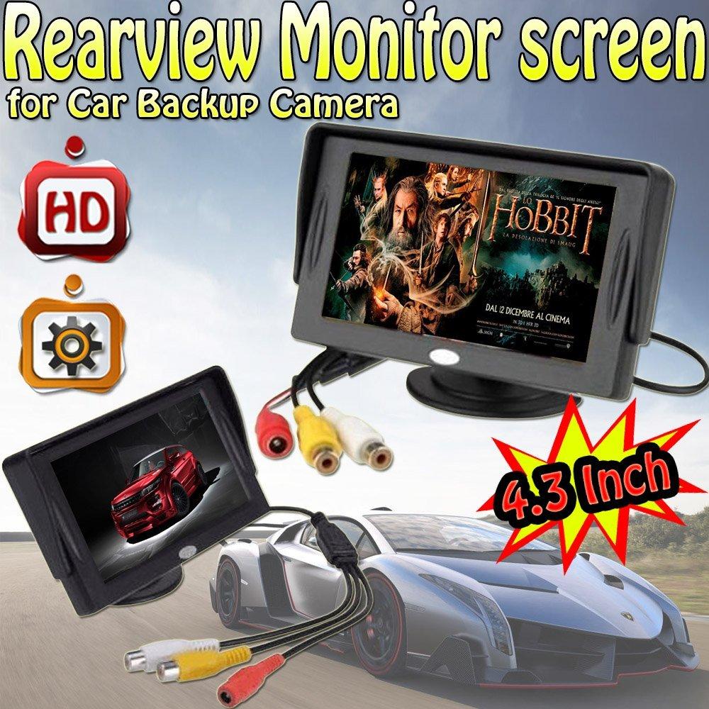 Sunvalleytek 4.3 inch TFT LCD pantalla del monitor de visión trasera para coche cámara de copia de seguridad: Amazon.es: Electrónica