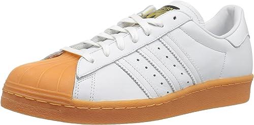 adidas Originals Herren Superstar 80s DLX, WeißWeißGold