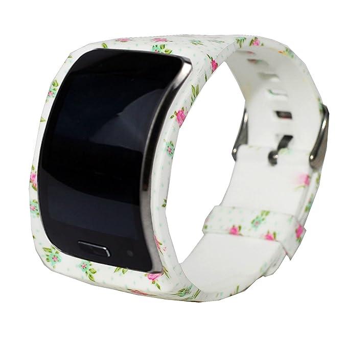 Para Samsung Gear S SM-R750 correa de goma reloj de pulsera de ...