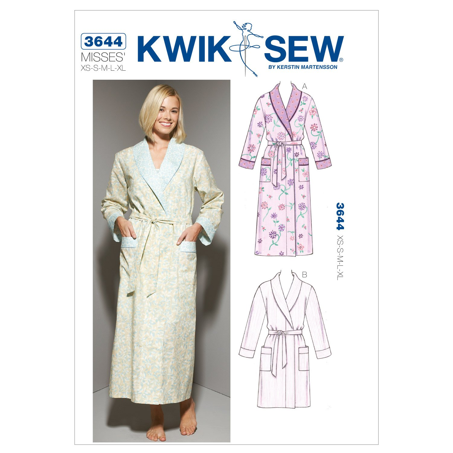 Amazon kwik sew k3644 robes sewing pattern size xs s m l xl amazon kwik sew k3644 robes sewing pattern size xs s m l xl arts crafts sewing jeuxipadfo Gallery
