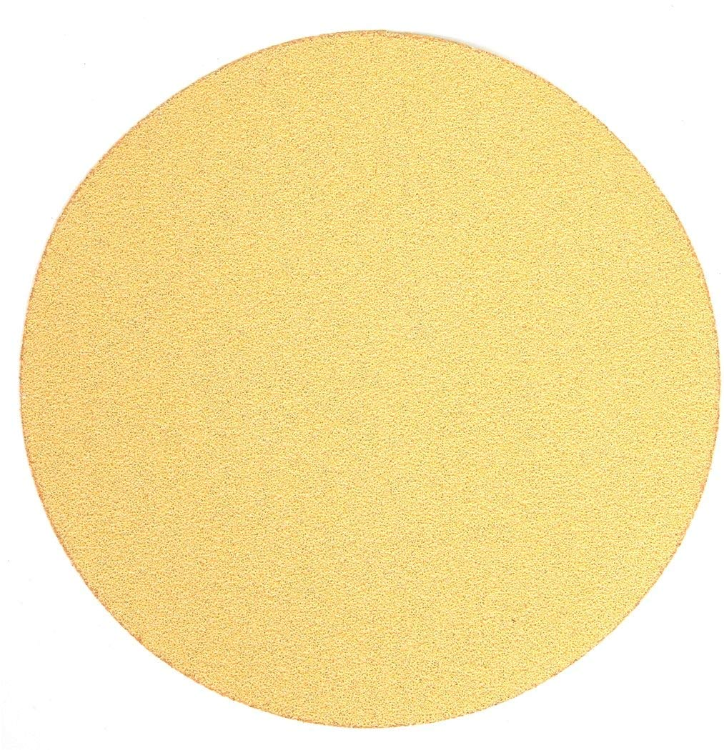 Finish 1St 6'' PSA Sanding Disc, 80 Grit, Medium, Coated, No Hole, Aluminum Oxide, PK50 - 8441-035 Pack of 2