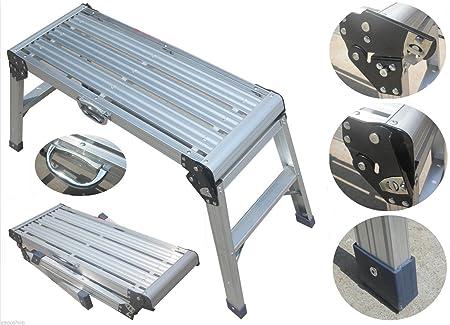 Alu arbeitsplattform trittleiter leiter klappleiter plattform