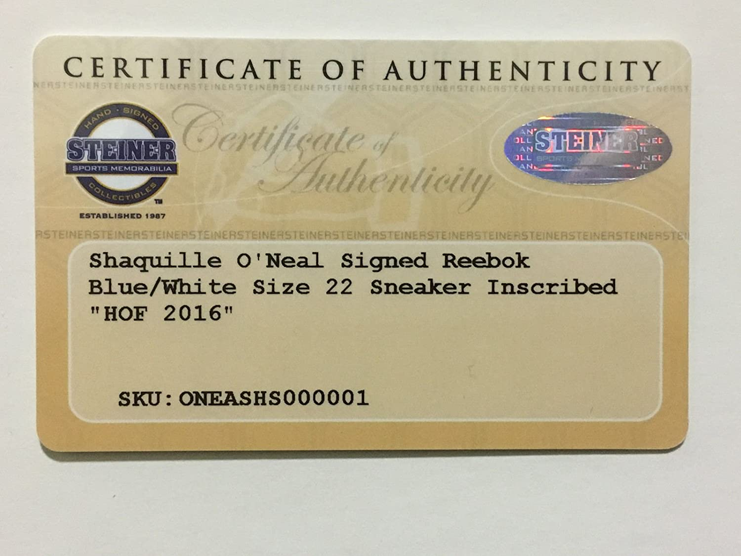0a0aa4424e27 Shaquille O Neal signed size 22 Shaq attaq sneaker auto ins HOF 16 Steiner  COA at Amazon s Sports Collectibles Store