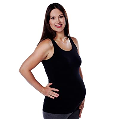 Loving Moments by Leading Lady Women's Santoni Shirred Side Maternity Tank Bra: Clothing
