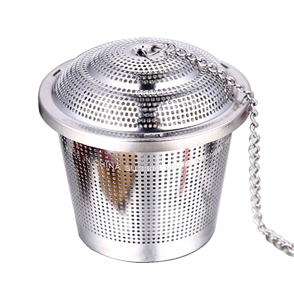Ainstsk Tea Filters,Premium Stainless Steel Durable Mesh Tea Strainers Tea Infusers Flavoring Bags Ball Threaded for Loose Leaf Tea Herbal Spices & Seasonings Hanging On Teapots Cup(S)
