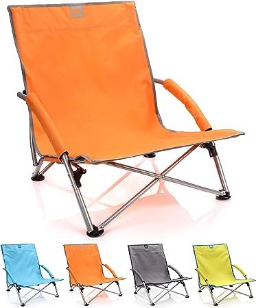meteor Sillón Plegable - Tumbona para Jardin Camping Terraza - Silla Playa Jardín Al Aire Libre - Colores Diferentes