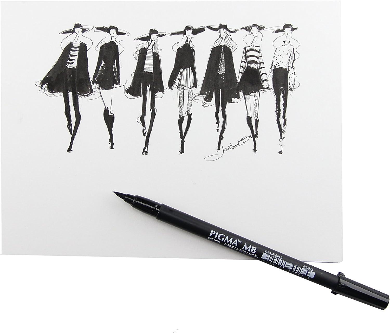 Sakura 50027 Pigma Professional Brush BB 2 Bold Point Black Pen Set NEW!