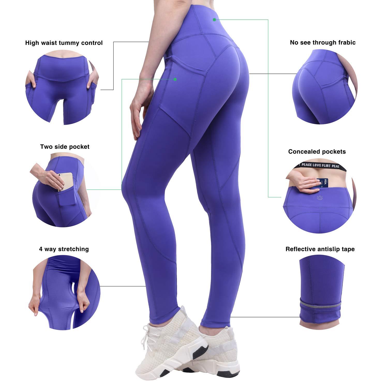 efd8437ea3456 Amazon.com: YUNOGA Yoga Pants for Women Yoga Leggings High Waist Tummy  Control Leggings Workout Pants: Clothing