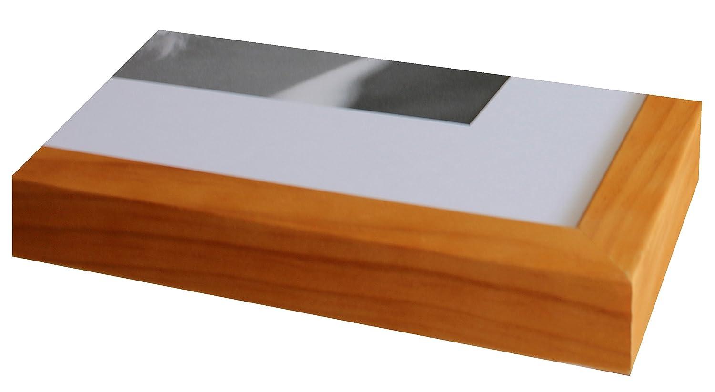 Intertrading Bilderrahmen 60x80 Holz massiv hellbraun Buche incl ...