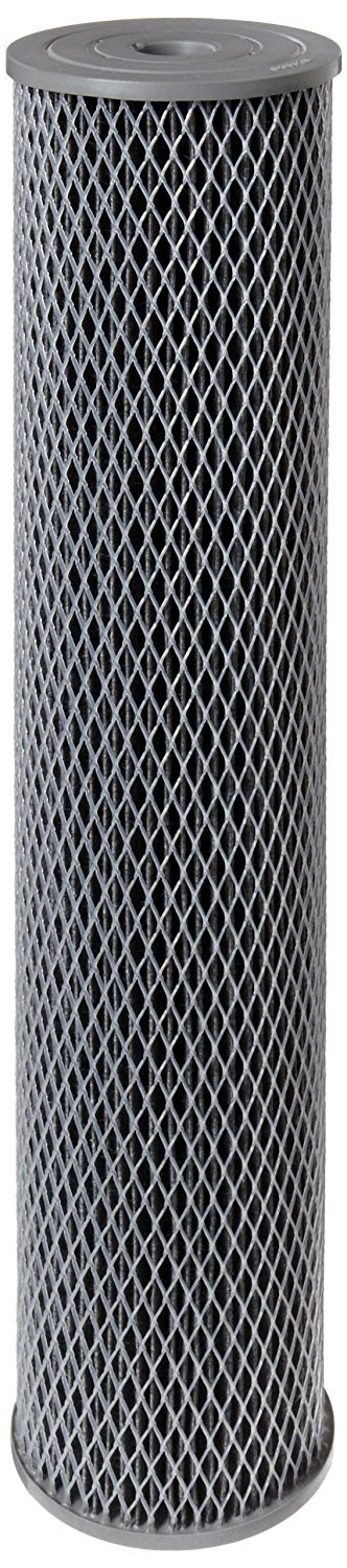 Pentek NCP-20BB Pleated Carbon-Impregnated Polyester Filter Cartridge, 20'' x 4-1/2'', 10 Microns (Pack of 2)