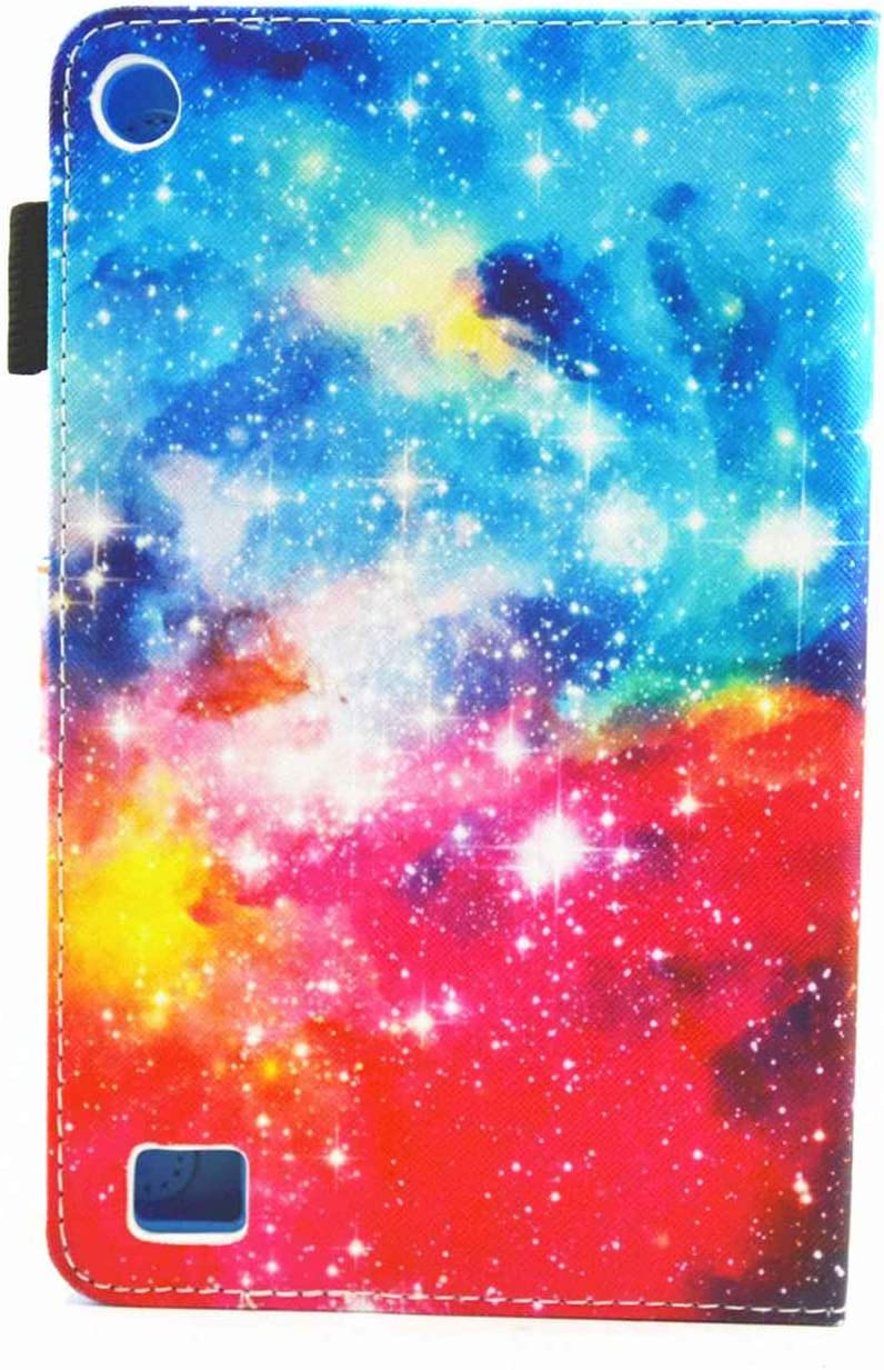 Fire 7 Tablet Case Premium PU Leather Ultra Slim 3D Pattern Smart Stand Cover with Auto Wake//Sleep for All-New  Fire 7 Tablet 7th Generation 2017 Release Rainbow