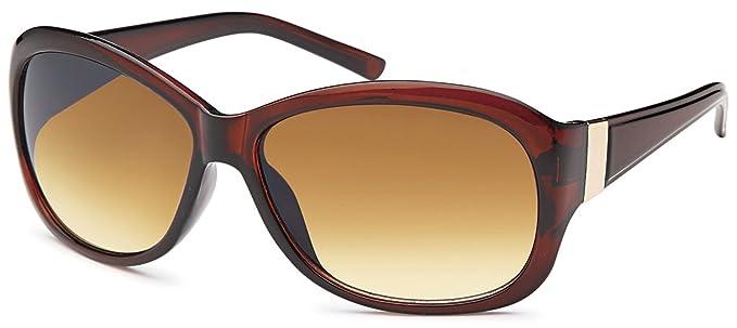 Elegante Kunststoff-Sonnenbrille in Schmetterlings-Form UV400 Filter - Im Set mit Etui (braun) ZmbciCymUI