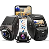 REXING V1P MAX 4K UHD Dual Channel Dash CAM, 3840X2160 Front+1080p Rear, WiFi GPS Car Dash Camera w/Night Vision…
