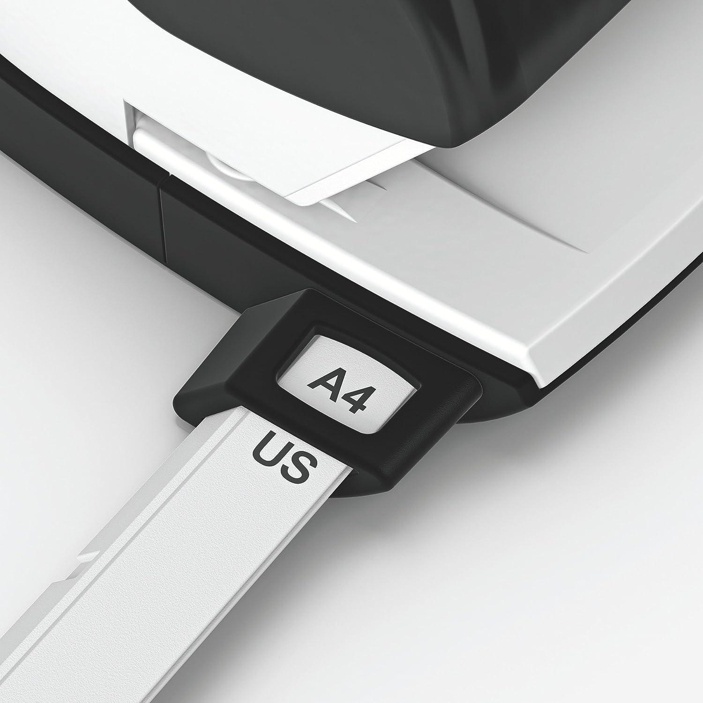 Blu 25 fogli Leitz Perforatore per ufficio Metallo NeXXt 50050035 Guida di arresto con sistema di fissaggio