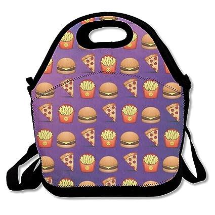 Emoji pizza hamburguesas patatas fritas almuerzo Tote Bag ...