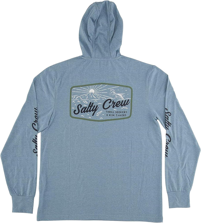 Salty Crew Mens Frenzy Long Sleeve Tech Hoodie