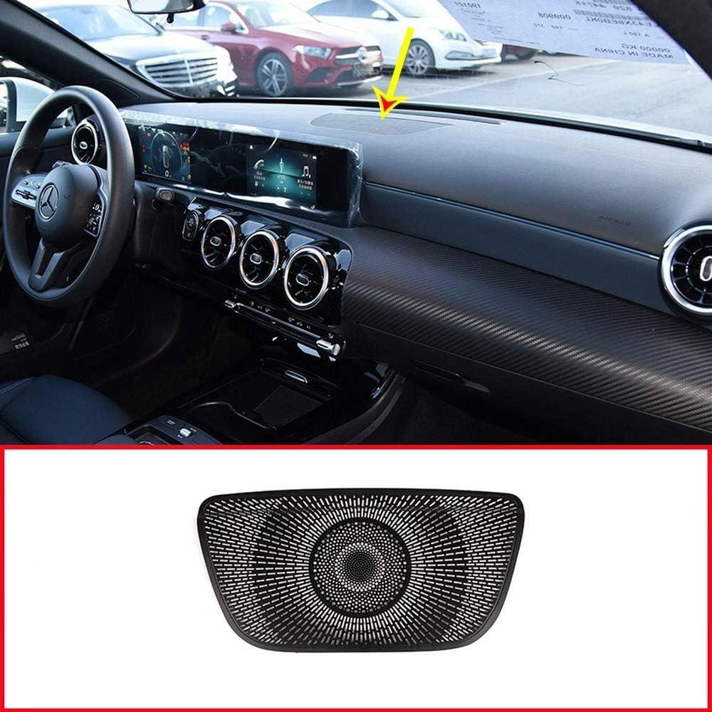 Aluminum Alloy Black Car Dashboard Speaker Cover Trim For Mercedes benz A Class W177 V177 A180 A200 2019 2020 Accessories