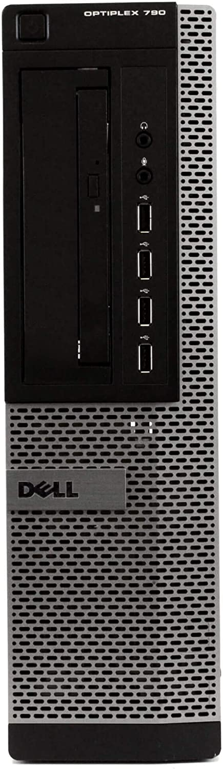 Desktop Computer Package Compatible With Dell OptiPlex 790, Quad Core i5 3.1GHz, 4GB RAM, 250GB HDD, New Periphio WiFi Adapter, DVD, Windows 10 (Renewed)