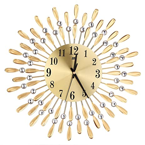 Amazon.com: Decorative drop Metal Wall Clock 3D European-style Iron ...