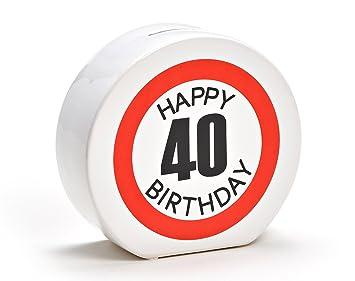Amazon De Spardose Geburtstag Aus Keramik In 6 Varianten Happy