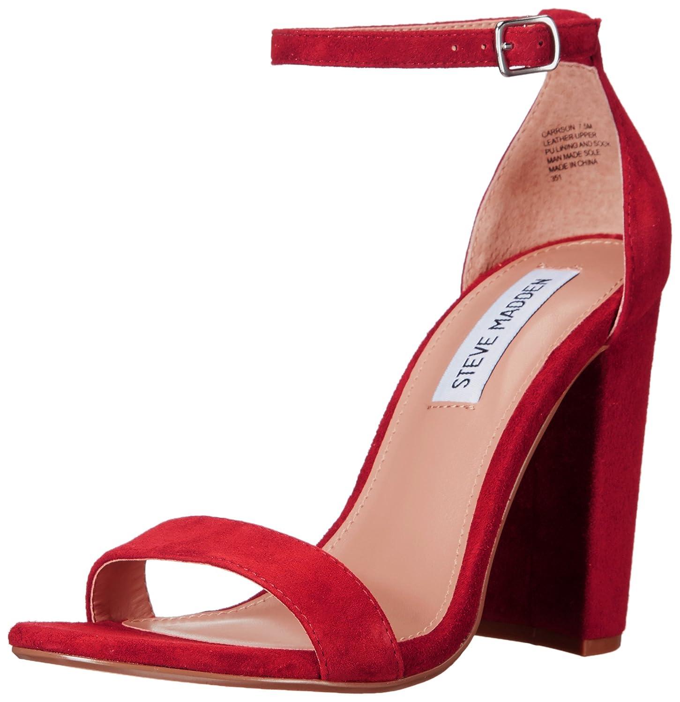 Steve Madden Women's Carrson Dress Sandal B01M8PO8CJ 6 B(M) US|Rust Suede