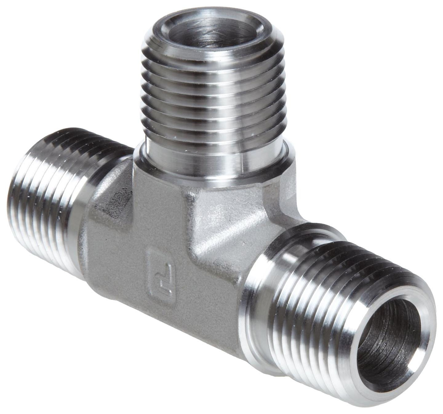 3//8 NPT Male Tee Parker 6-6-6 MT-SS Stainless Steel 316 Pipe Fitting