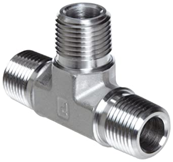 1 4 Npt >> Parker Stainless Steel 316 Pipe Fitting Tee 1 4 Npt Male