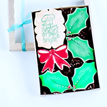 Dz Baking Spirits Bright Holly Gift Boxed Cookies Christmas