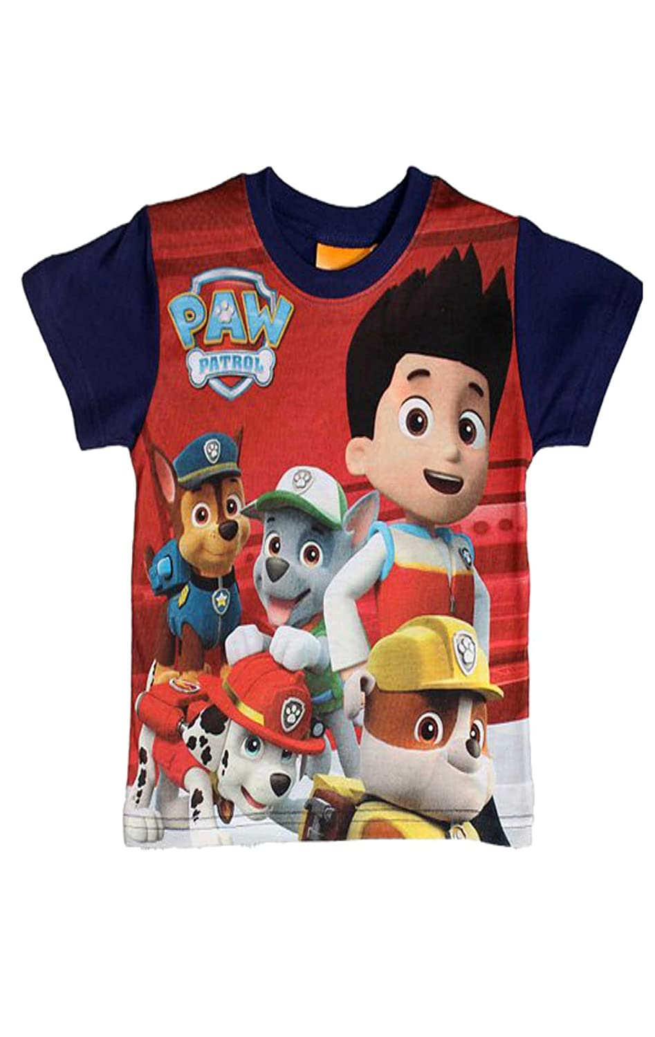 Paw Patrol Boys Official Tshirt Top Age 3 to 8 Years