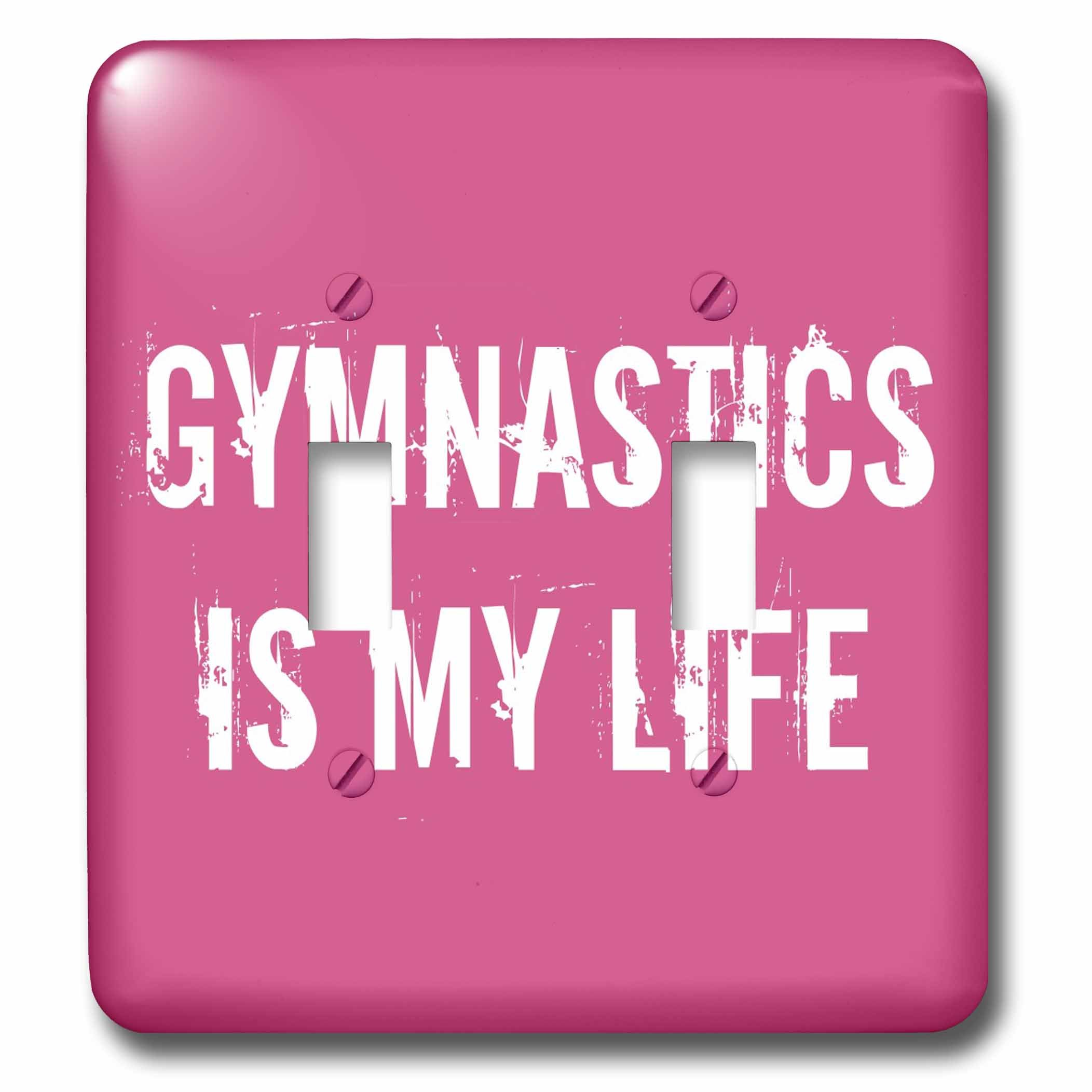 3dRose lsp_195360_2 Gymnastics is My Life Pink White Double Toggle Switch