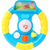 Toyhouse THPW3802-3 Toddler Steering Wheel with Key Item Light and Music, Multi Color