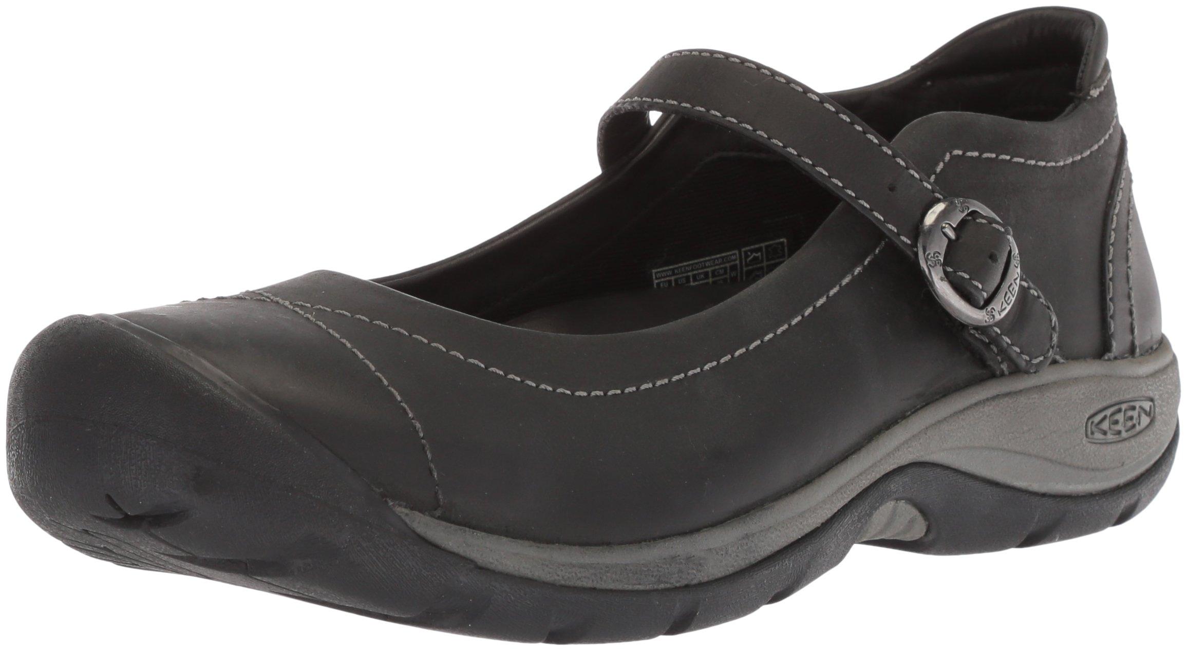 KEEN Women's Presidio II MJ-W Hiking Shoe, Black/Steel Grey, 7.5 M US by KEEN