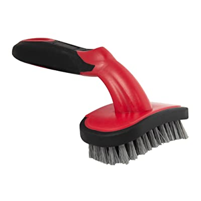 Barrett-Jackson Wheel and Tire Bristle Brush with Soft Grip Handle: Automotive