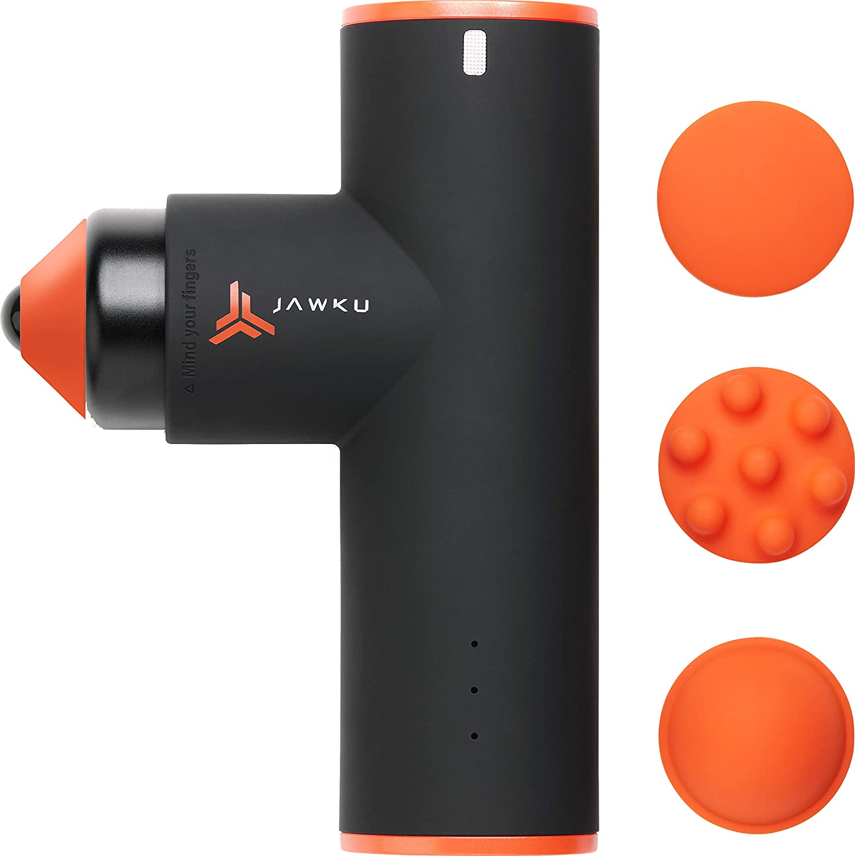JAWKU Muscle Blaster Mini Cordless Percussion Massage Gun, Rechargeable Handheld Stimulation, Ultra Silent Vibration and Deep Tissue Muscle Massager